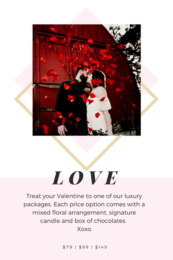 Valentine's Day Special at Parksville Florist Petal and Kettle
