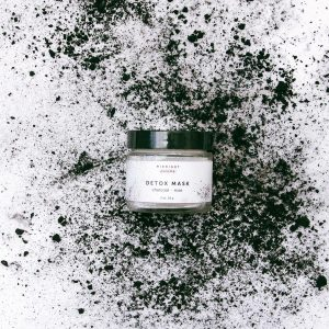 Midnight Paloma charcoal detox mask, available in store or online at Petal and Kettle, Parksville gift shop