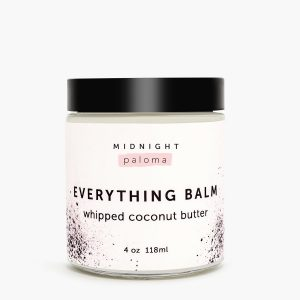 Midnight Paloma Everything Balm whipped coconut butter, available in store or online at Petal and Kettle, Parksville gift shop