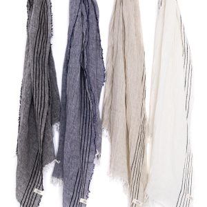 Tofino Towel linen scarf sold in Parksville at Petal and Kettle