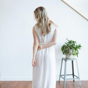 Tofino Towel white dress, sold online and instore at Petal and Kettle, Parksville gift shop