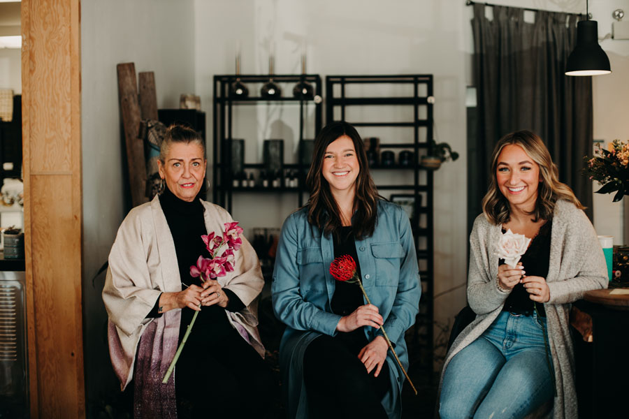 employees at Petal and Kettle, Vancouver Island Florist